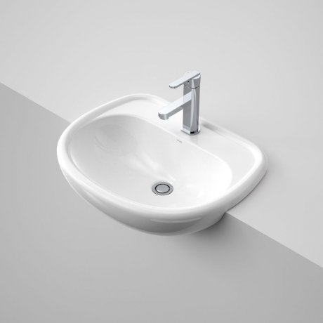 Caravelle 550 Semi Recessed Basin - 1TH