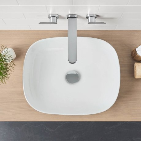 Artisan Above Counter Basin - Curved Rectangle 500mm