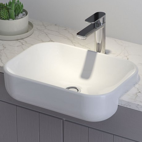 Luna Semi Recessed Basin (without tap landing)