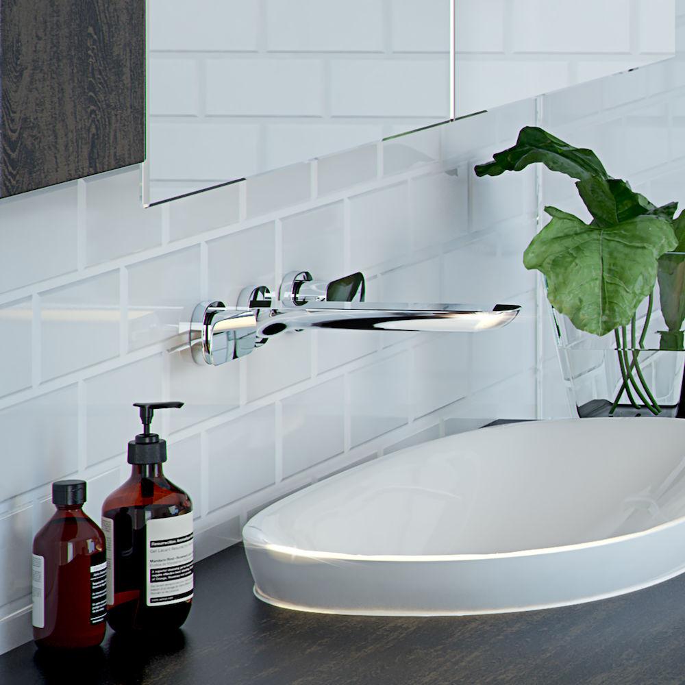 Contura Wall Basin Bath Set Caroma