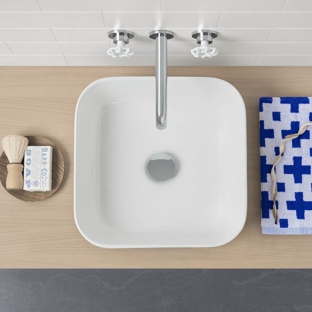 Artisan Above Counter Basin - Square 390mm