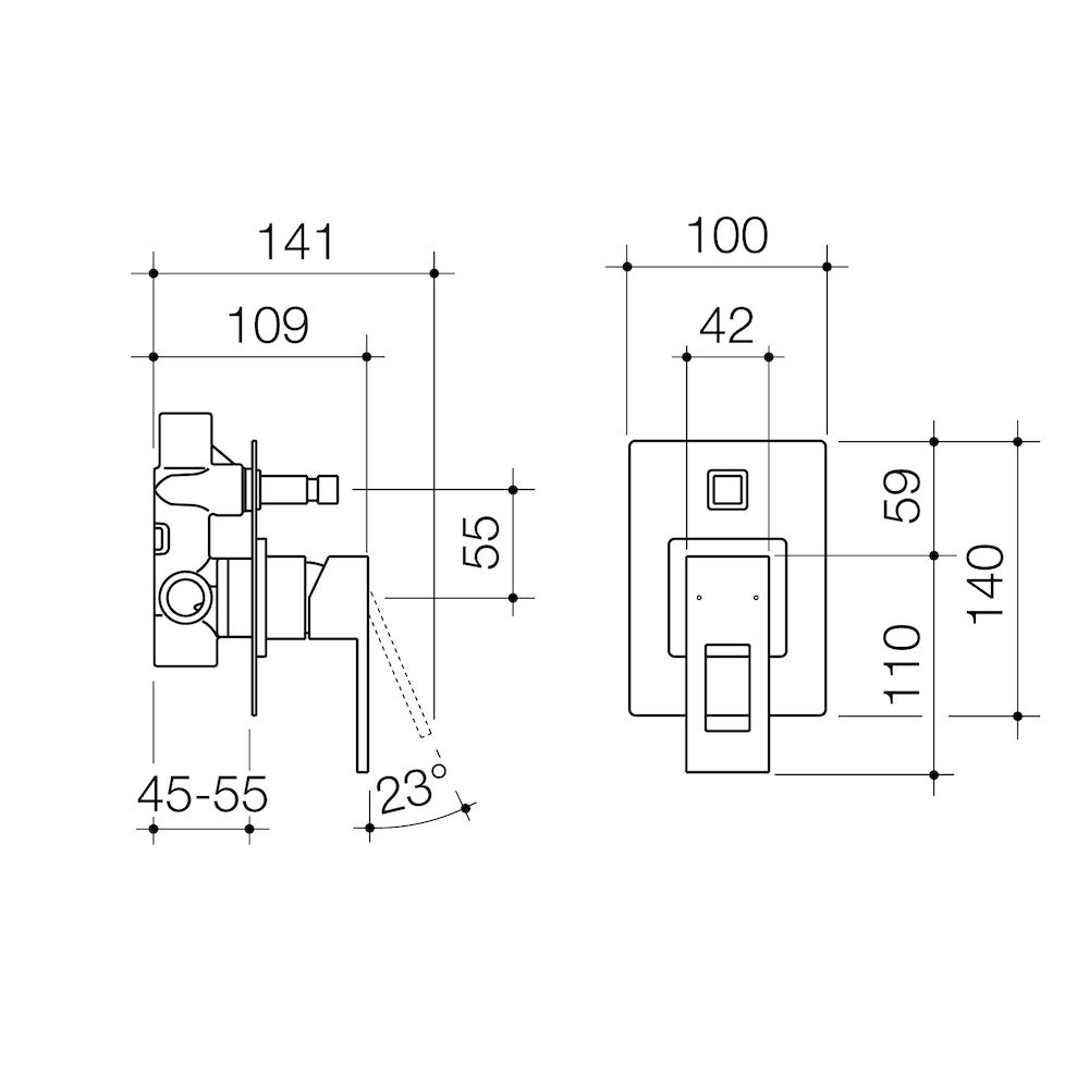 Quatro Bath Shower Mixer With Diverter Caroma Schematic Type Wall Hung