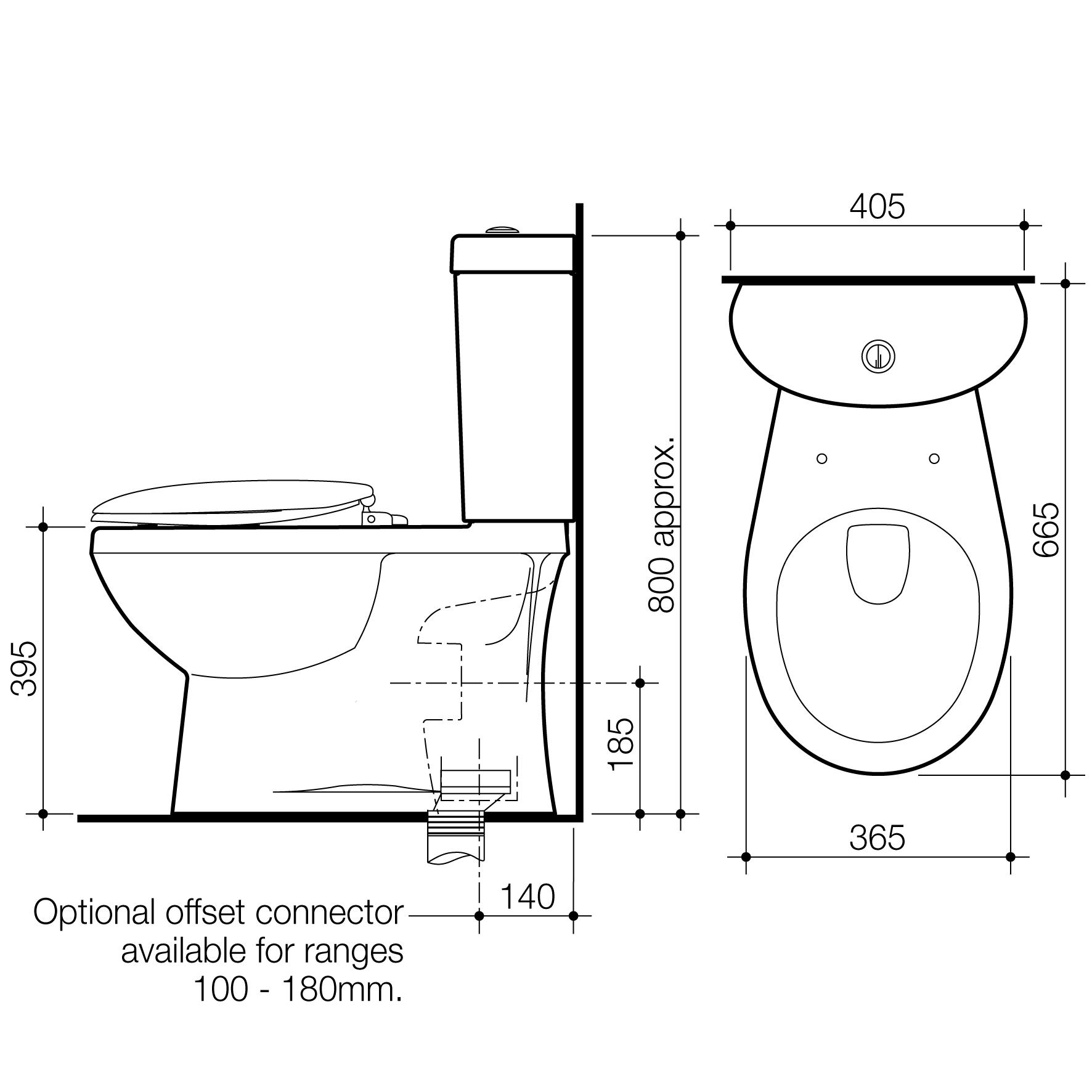 Profile Ii Close Coupled Toilet Suite Caroma