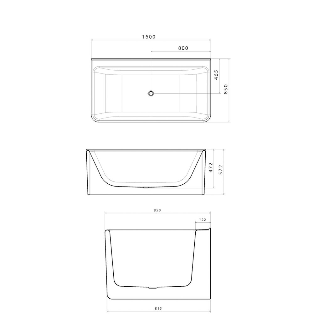 how to build in a back to wall freestanding bath