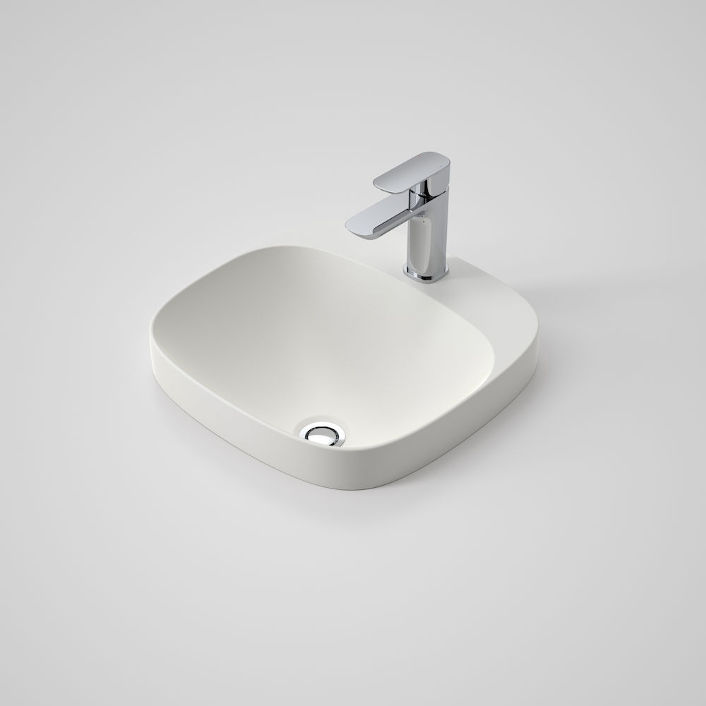 Moon 420 Inset Basin 1TH White