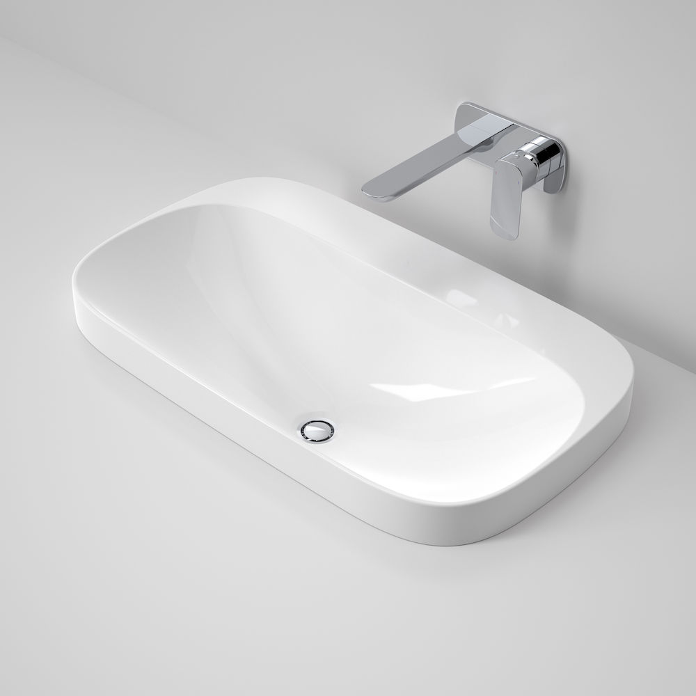 Moon 700 Inset Basin 1TH White