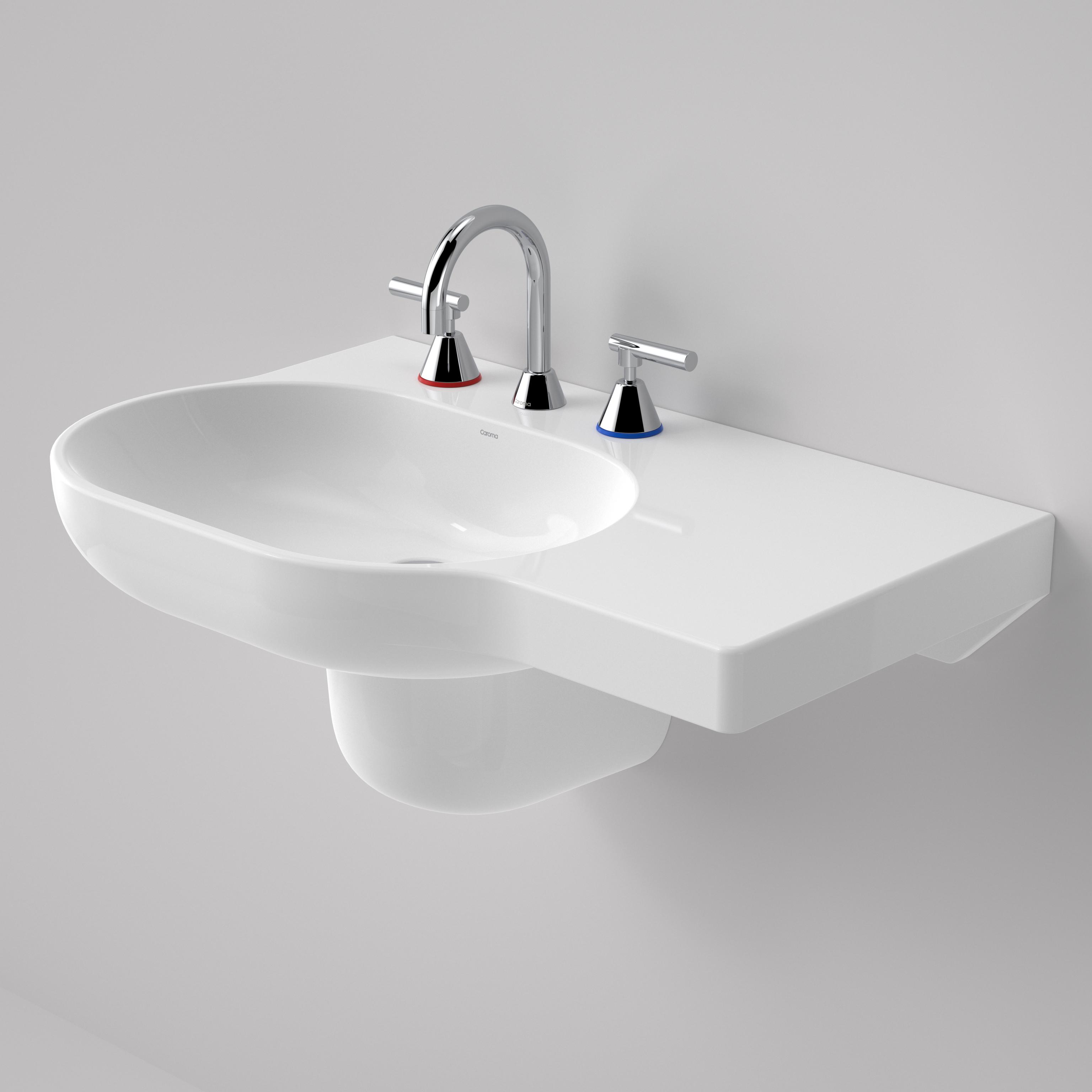 Opal 720 Wall Basin Right Hand Shelf