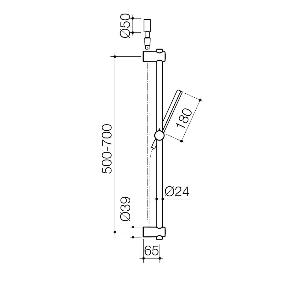 Square Rail Shower Chrome Clark Wall Schematic Engineering Diagram Type Hung
