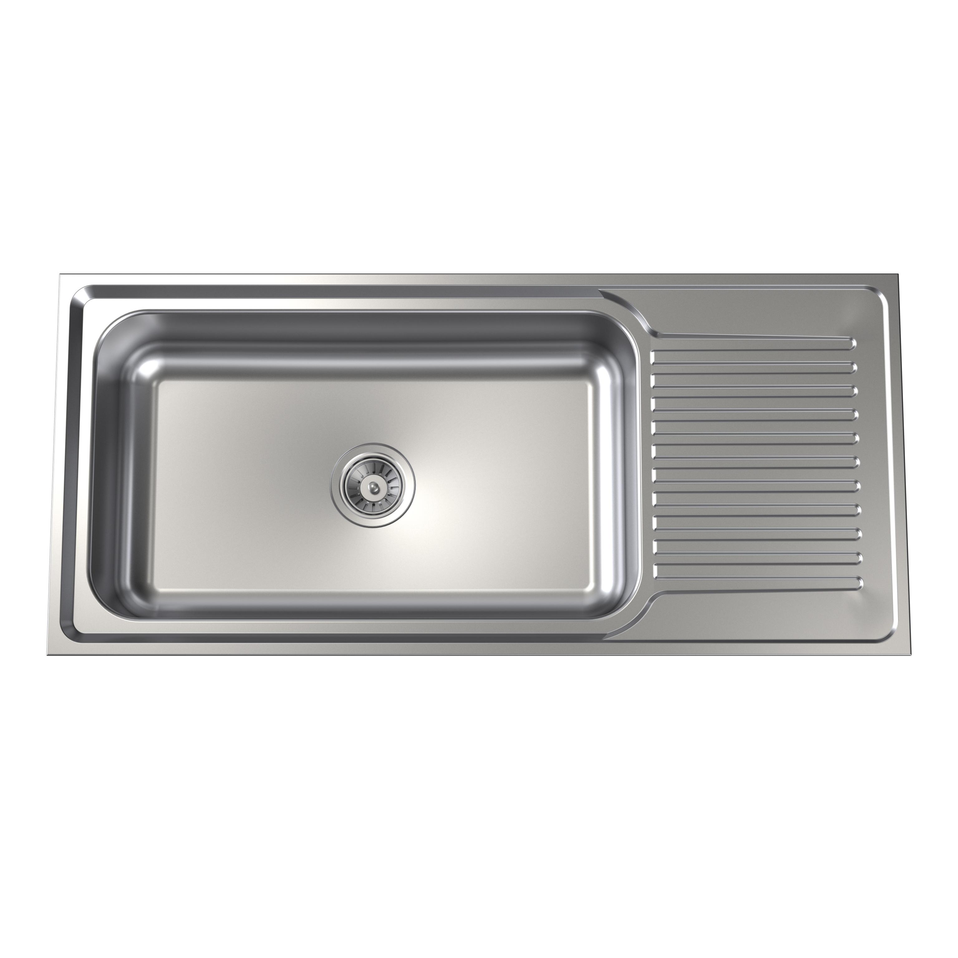 Punch Mega Bowl Sink No Tap Hole Clark