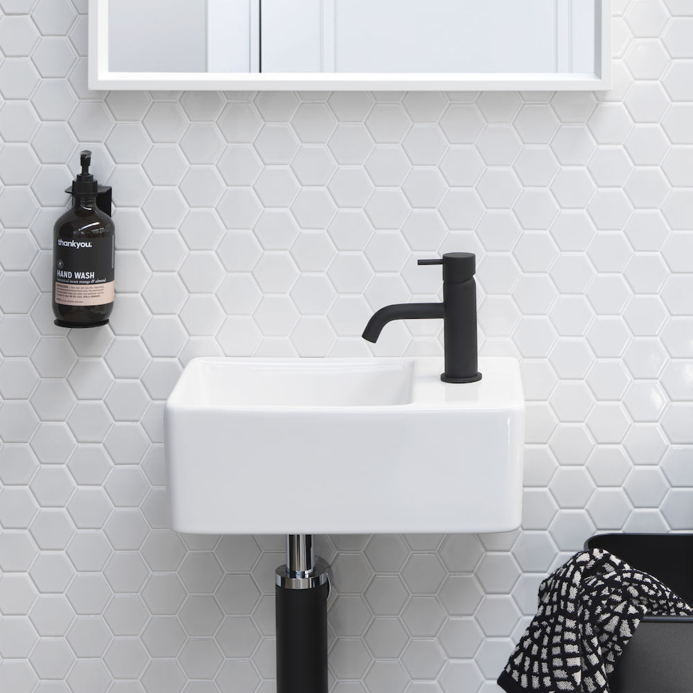 Square Hand Wall Basin 1 Tap Hole Clark